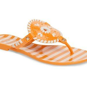 Jack Rogers Striped Georgica Jelly Flats, Size 7